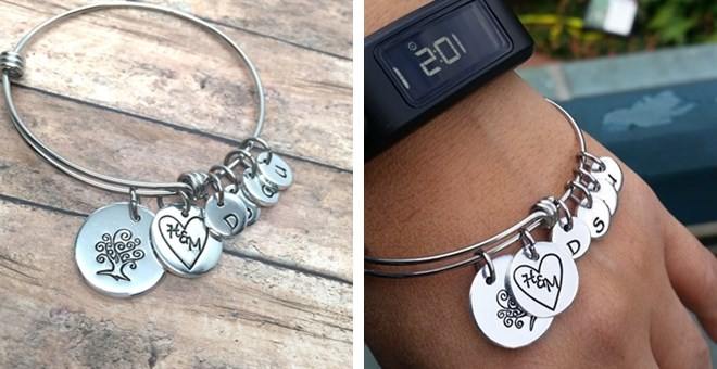 Forever Family Bangle | Up to 4 Initials
