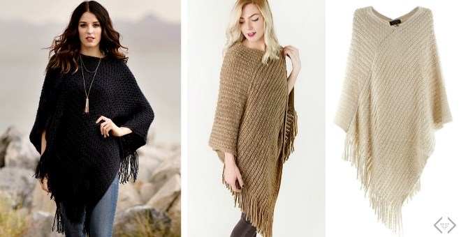 Knit Poncho Blowout | 2 Styles