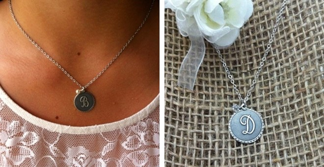 Designer Inspired Initial Charm Necklace!