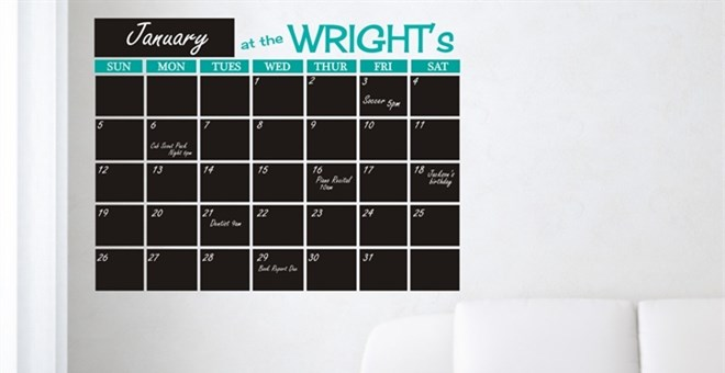 PERSONALIZED BACK TO SCHOOL SCHEDULE CHALKBOARD CALENDAR!
