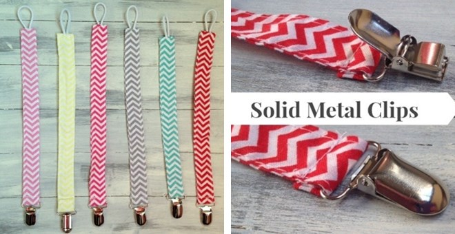 Chevron Pacifier Clips!