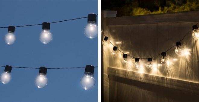 Solar patio bulb string lights jane