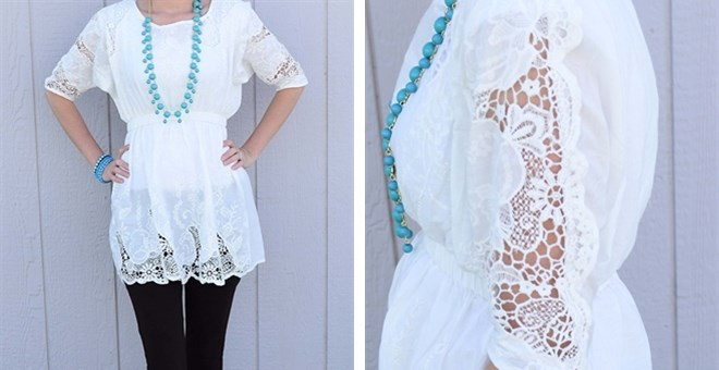 Lace Detailed Summer Dress