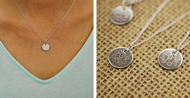 Personalized engraved monogram charm necklace jane aloadofball Image collections