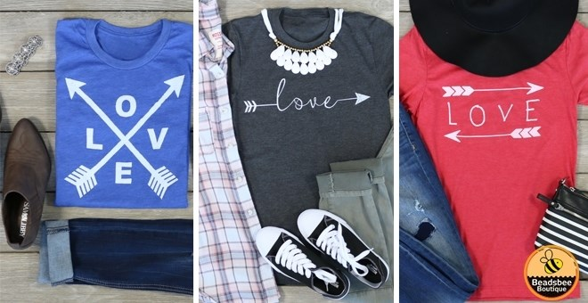 Arrow Love Tees | 3 Styles | 11 Colors