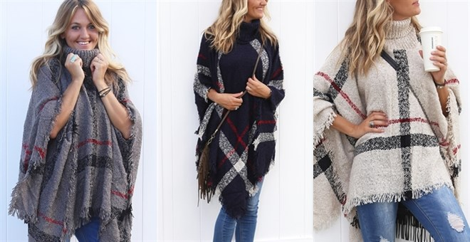 Plaid Poncho | 6 Colors!
