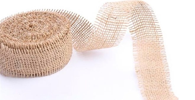 10 yards of Soft Burlap Ribbon
