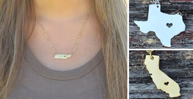 State Charm Necklaces | 48 States