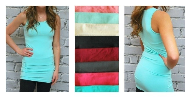 Extra Long Thick Strap Layering Tanks - New colors - 13 colors