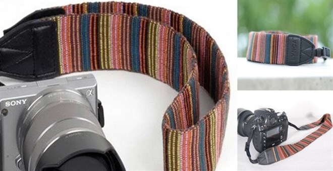 Striped Camera Strap - BLOW OUT!