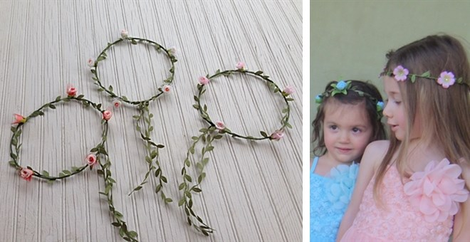 little girls floral crowns