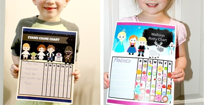 Custom Reward Sticker Chart | Digital File