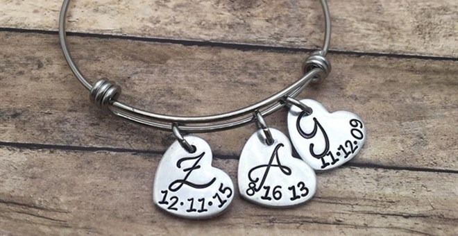 Personalized Initial Bangle Blowout
