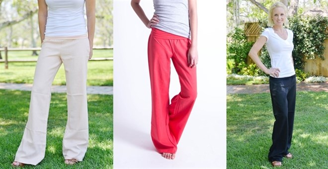 Fold Over Linen Pants - Special Low Price