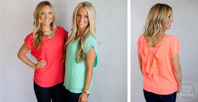 Bow Back Summer Blouse!