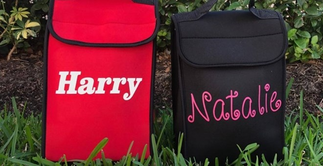 Personalized Monogrammed Neoprene Lunch Bag/Box Cooler