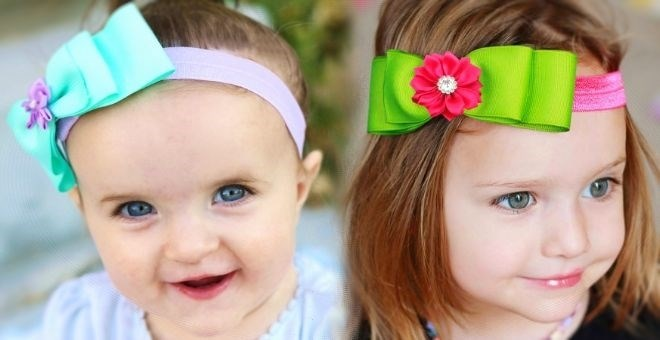 50 + Ribbon Bows with Mix and Match Interchangeable Headbands--Fits All Ages