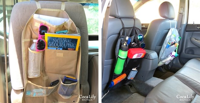 back seat car organizers - 3 colors