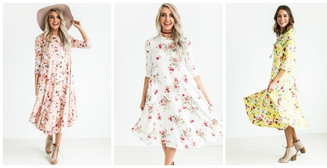 Spring Floral Swing Dress | 7 Colors!