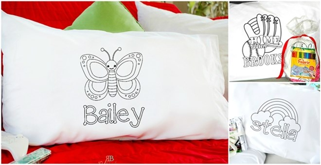 Personalized Color-On Pillowcases for Kids!