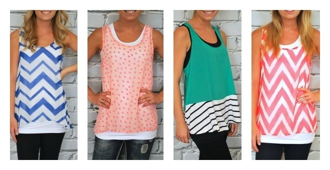 Summer Tank Top Blowout - 4 Styles