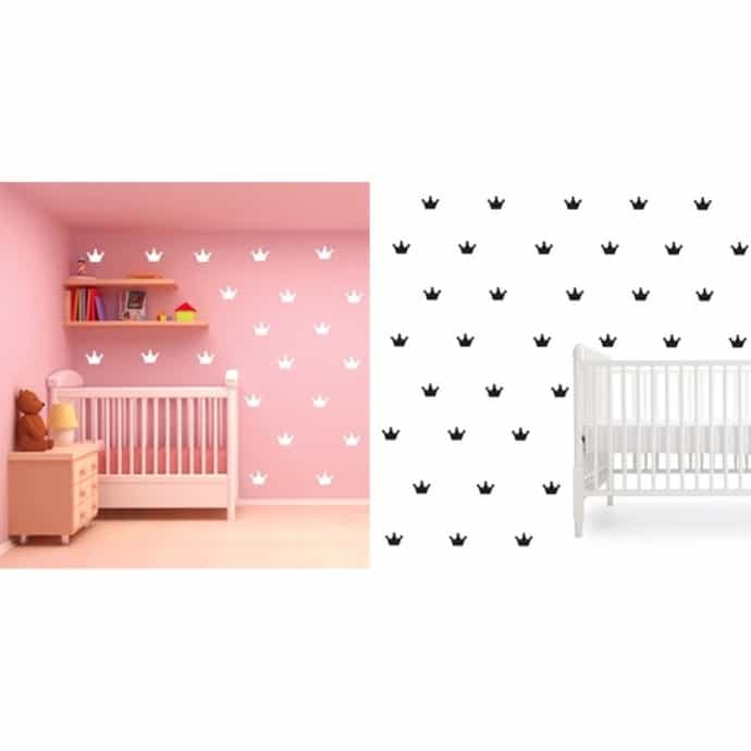 Kids Decorative Crown Wall Decals 30 Pack Jane