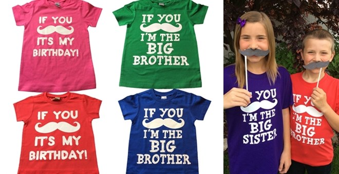 3 DESIGNS - MUSTACHE TEES FOR BOYS AND GIRLS