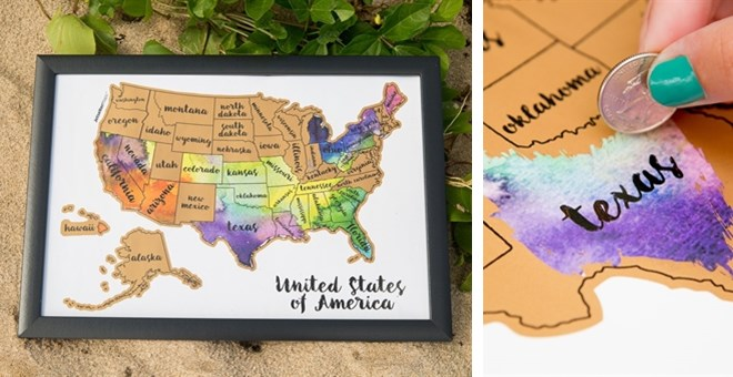 Scratch Your Travels USA Map Jane - Scratch us map