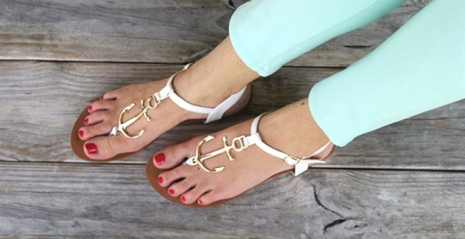Nautical Inspired Anchor Sandals