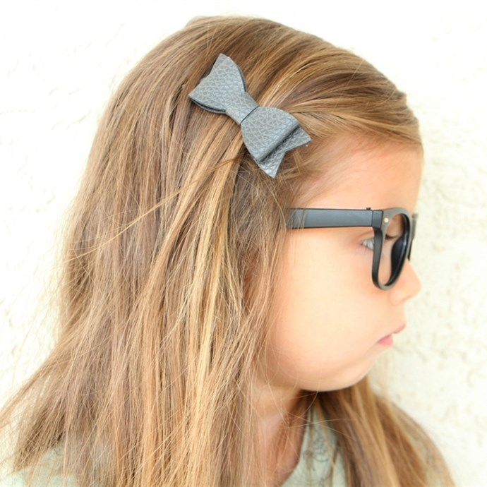 "No Deal >> 4"" Leather & Glitter Bows 