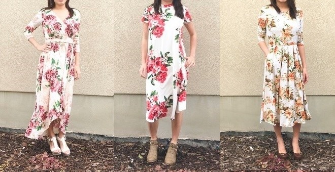 Floral Dress / 3 Styles
