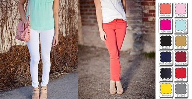 Spring Colored Jeggings