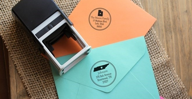 PERSONALIZED SELF INKING STATE STAMPS