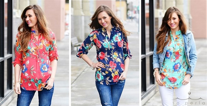 Best Selling Large Floral Print Top