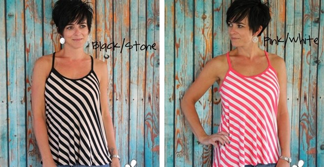 Diagonal Striped Tank CLEARANCE