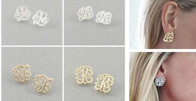 Monogram Earrings – Summer Must Have!