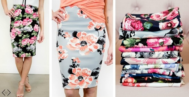 Floral Pencil Skirts | Regular & Plus + New Styles!