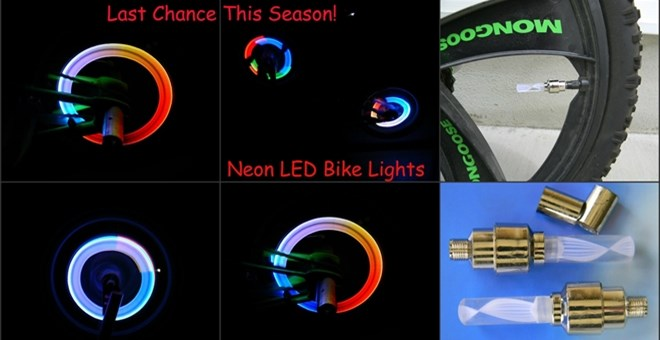 Last Chance! Neon LED Bike Lights – 2 Pack! Changes Colors!