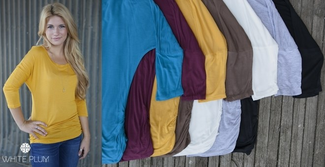 Quinn Ruched Top! S-3XL Sizing! 9 Colors!