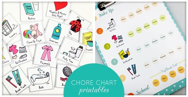 Chore Chart Printables - Multiple Versions Available
