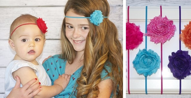Shabby Chic Headbands - 17 Colors to Choose From