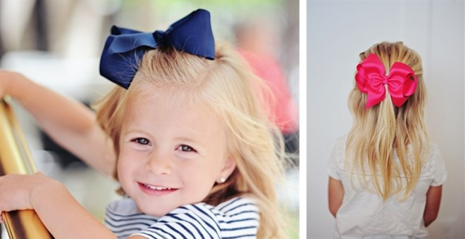 "Stock up for school!  6"" Grosgrain bows with clip"