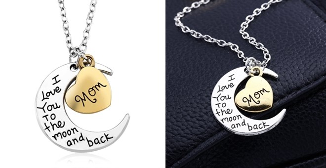 Moon Love Mom Necklace ONLY $5...
