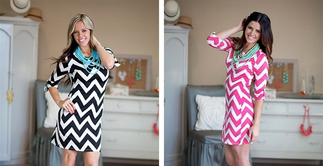 Fun and Flirty Chevron Dress-OWB Exclusive!