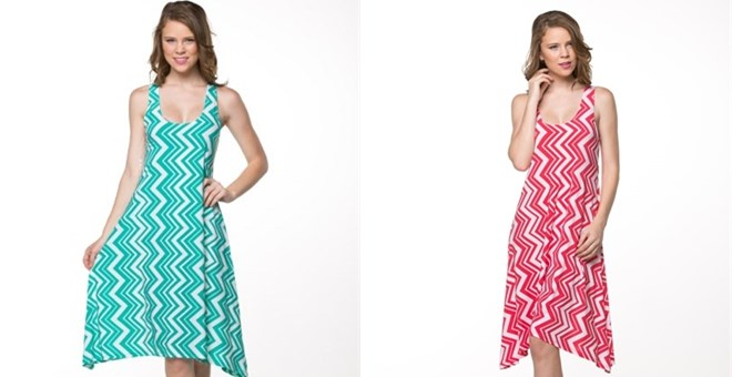 Elegant Chevron Mid Dress