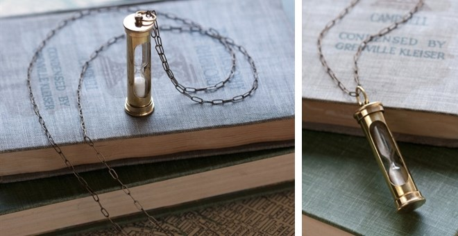 Minature Hourglass Necklace