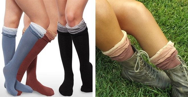 My back to school 3 color knee highs! | Jane