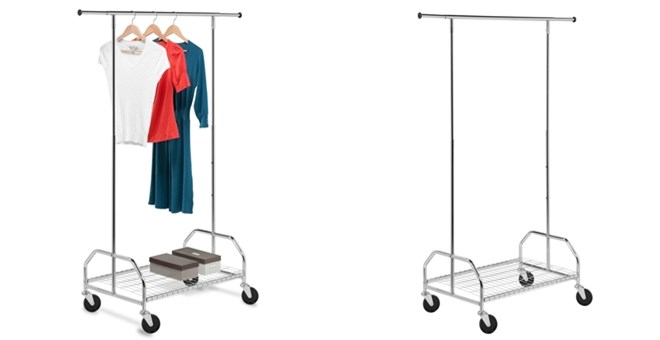 Bottom Shelf Garment Rack | Free Shipping! | Jane