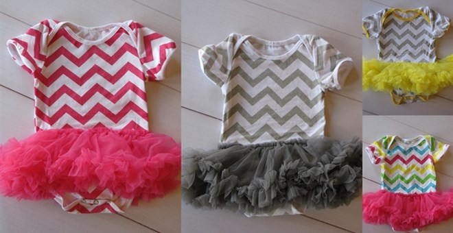 Chevron Onsies with Tutu's