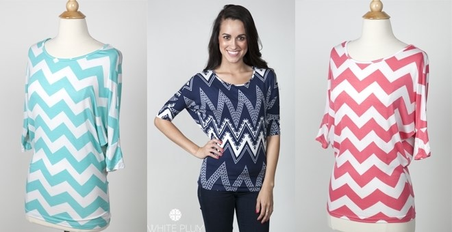Amy Chevron Dolman! XL-3XL Sizing! 2 Color Options!